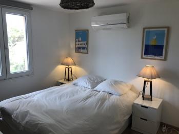 La chambre double à l'étage