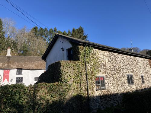 Converted barn right opposite the pub.