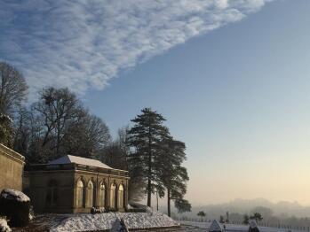 L'orangerie sous la neige