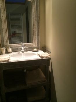 Vasque salle de bain chambre polo avec douche et wc