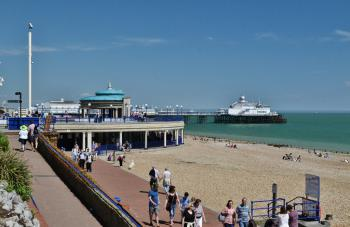 The worlds busiest bandstand, promenade and pier