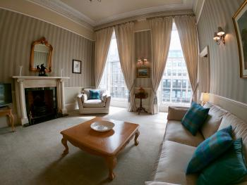 Escape To Edinburgh @ Albyn Place - Luxurious Living Room.