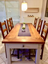 solid oak dining table for 8 people