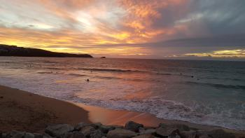Fistral Beach, 20 mins drive