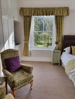 Wisteria Room large double room with ensuite overlooking rear garden
