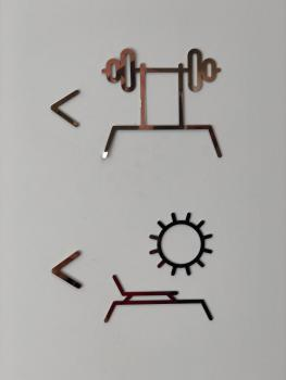 Gym and Roof Terrace Signage