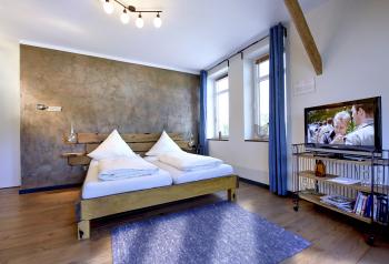 Doppelzimmer-Ensuite Dusche-Blick auf den Kanal - Standardpreis