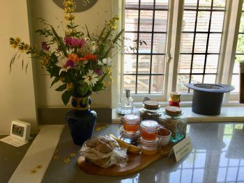 Fresh flowers everywhere and optional Continental breakfast