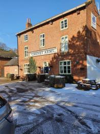 The Cheney Arms in winter snow