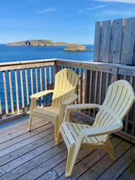 This is the stunning view from the Puffin's deck.