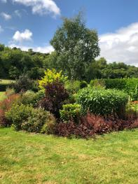 Enjoy the gardens at Slades Farm