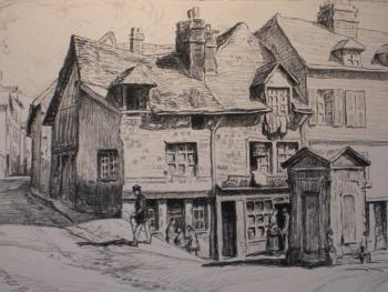 gravure de la maison par un artiste