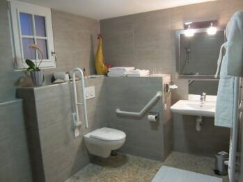 chambre TRISTAN salle d'eau adaptée aux PMR