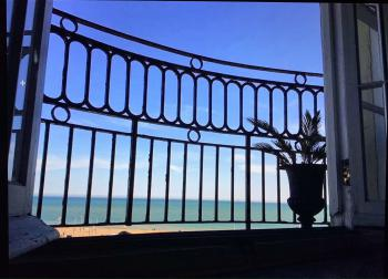 Moray Hastings - View from our unique balcony looking out to the sea