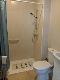 Marigold Room. Walk-in Shower ensuite that has heated towel rail and various shampoos provided.