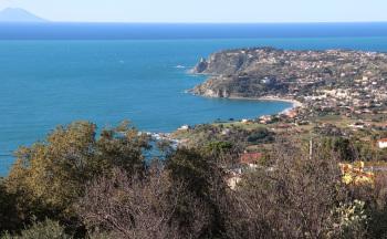 Bucht mit Strandabschnitt Tropea Luftaufnahme © Ferienwohnung Casa Belle Vacanze