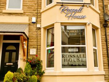 The Front view of Rossall House licensed Bed & Breakfast, a warm welcome awaits.