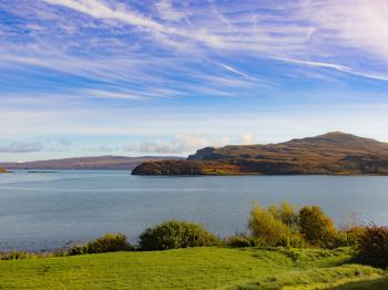We love our loch side location; although sometimes we are in awe of our sky.