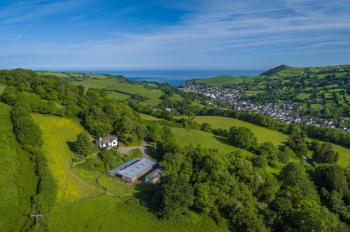 birds eye view of Guyscliffe Farm and Combe Martin