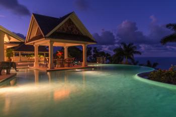 Main Pool and Gazebo - Night