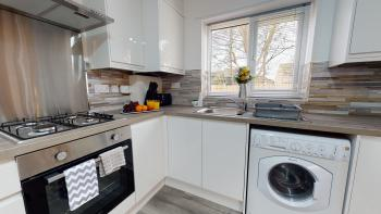 Modern fully equipped kitchen to prepare your meals