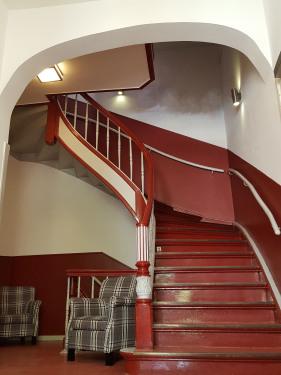 Treppenhaus beim Eintritt