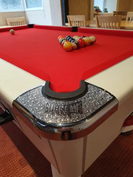 Supreme Pool Table with Spots and Stripes