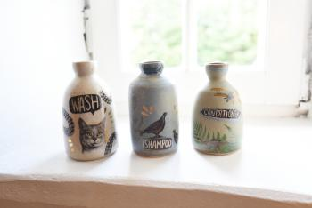 We are ridding ourselves of plastics at Kilmartin Castle in favour of bespoke refillable pottery. We provide Faith In Nature bathroom products which are all SLS, paraben and cruelty free