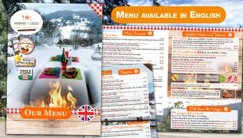 Our Menu in English