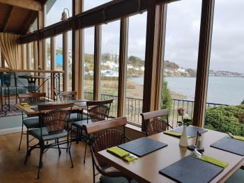 Lounge bar with panoramic views of the Cleddau Estuary