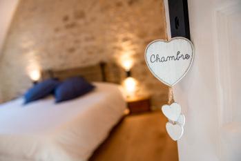 La chambre n°2 est la préférée de nos couples - La Grange - Bruyères-et-montberault