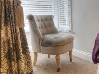 Quality fabrics and furnishings.
