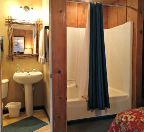 Woodview Room #1 Whirlpool/Shower and Bathroom