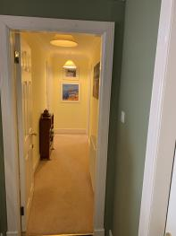 All three rooms in the house Family Suite are accessed from this private corridor