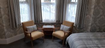 New Large Super King Ensuite with Comfy Chairs & Fridge