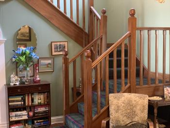 The staircase to the house bedrooms