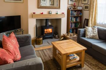 Guests can relax in front of a warm fire in the private snug