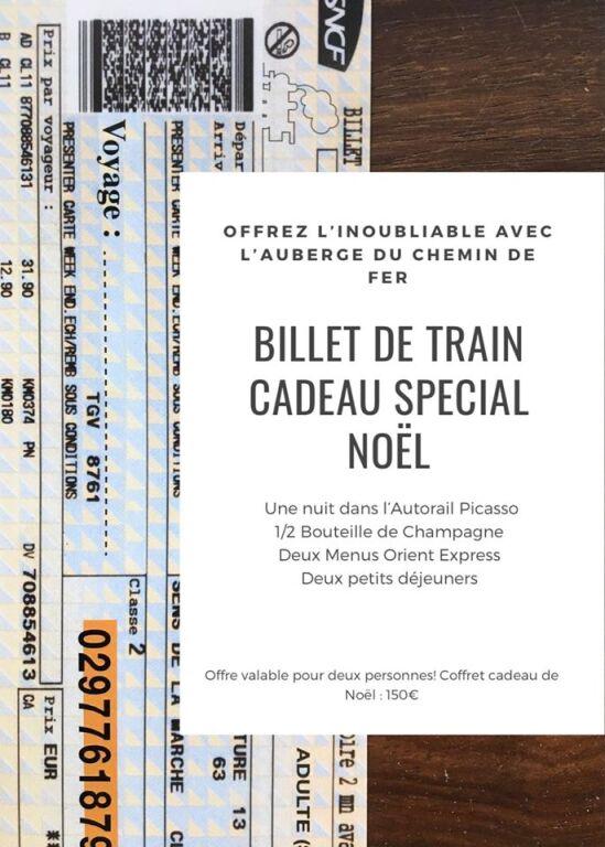 Offrez  des billets de train pour Noel