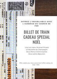 Les Gîtes du Picasso - Offrez  des billets de train pour Noel