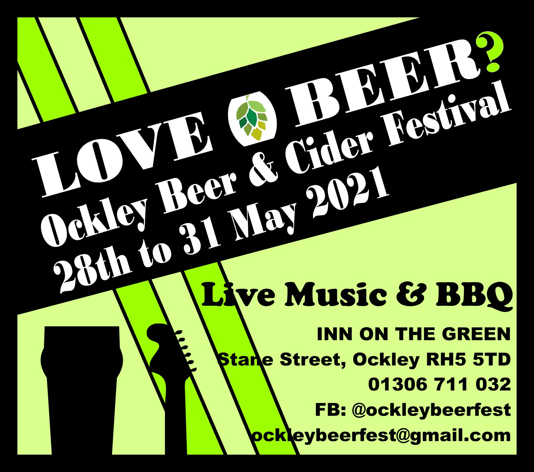 Beer and Cider Festival 28th to 31st May 2021