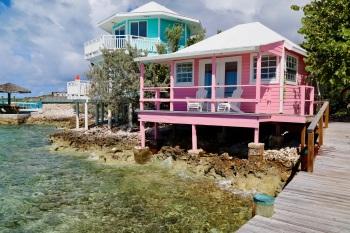 Pink Waterfront Bungalow