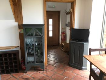 Entrance way and kitchen