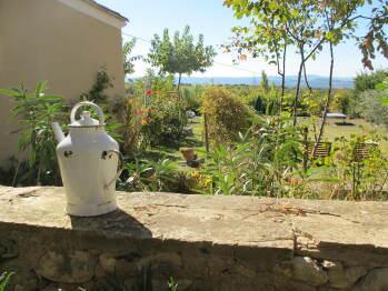 vue sur jardin privé lou cardalines