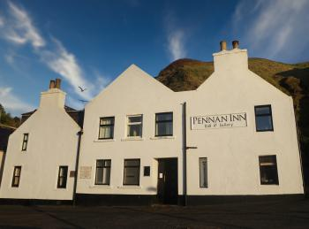 View to the Pennan Inn BnB&Gallery