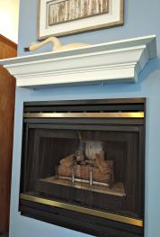 Birch Room #2 Gas Fireplace and Mantel