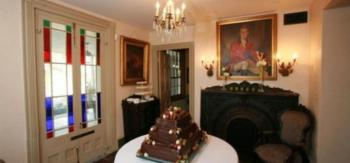 Hotel Interior with chocolate grooms cake
