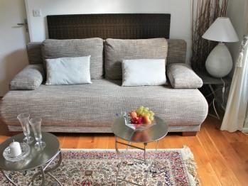 Gîte***** Sundgau salle de séjour avec lit supplémentaire