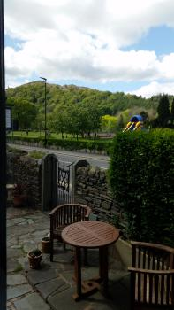 garden at Lacet House with view of Loughrigg