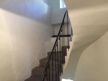 Escalier en pierre de la maison d'origine
