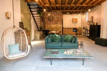 Grande pièce à vivre ouverte sur la terrasse - La Grange - Bruyères-et-montberault